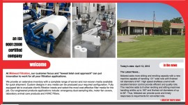 Web Design & Development - Midwest Filtration Company