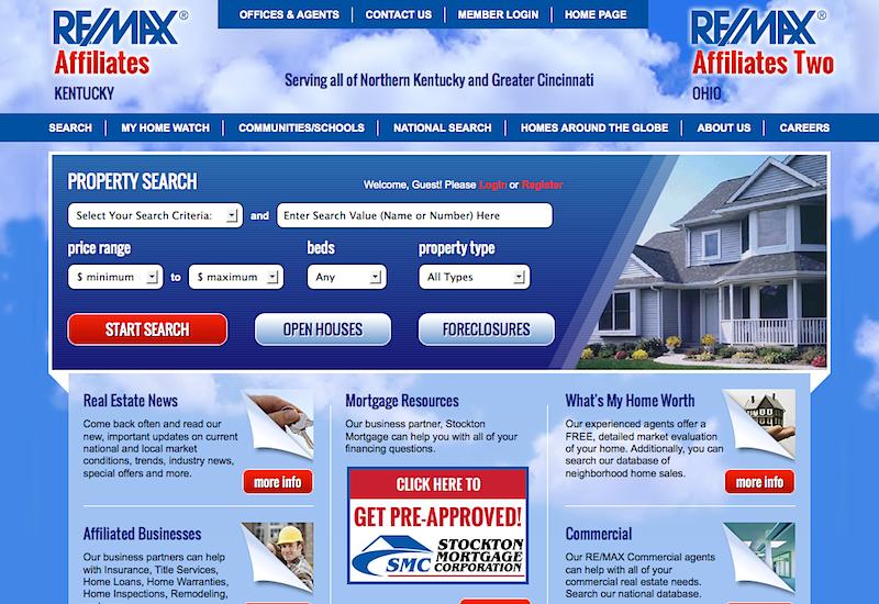 Web Design & Development - RE/MAX Affiliates