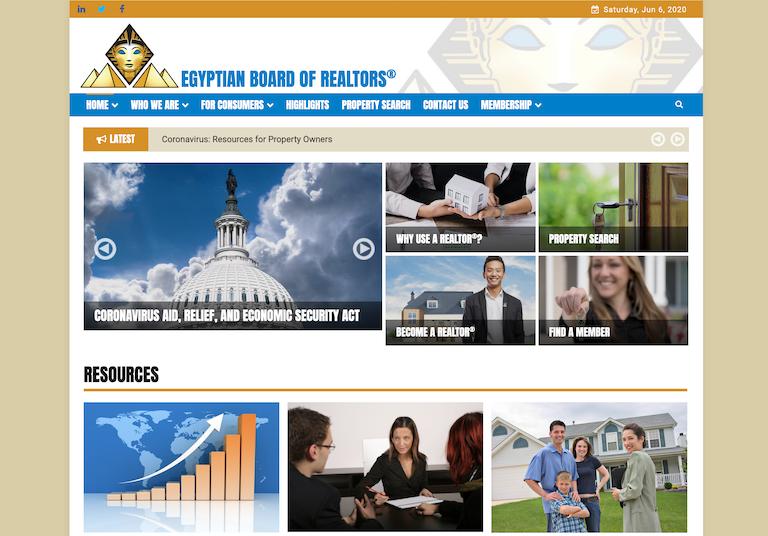 Web Design & Development - Egyptian Board of REALTORS®