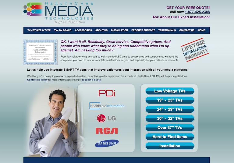Web Design & Development - Healthcare Media Technologies